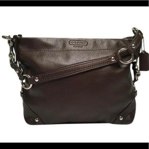 🆕Coach Carly Brown Leather Shoulder Bag (NWOT)🔥